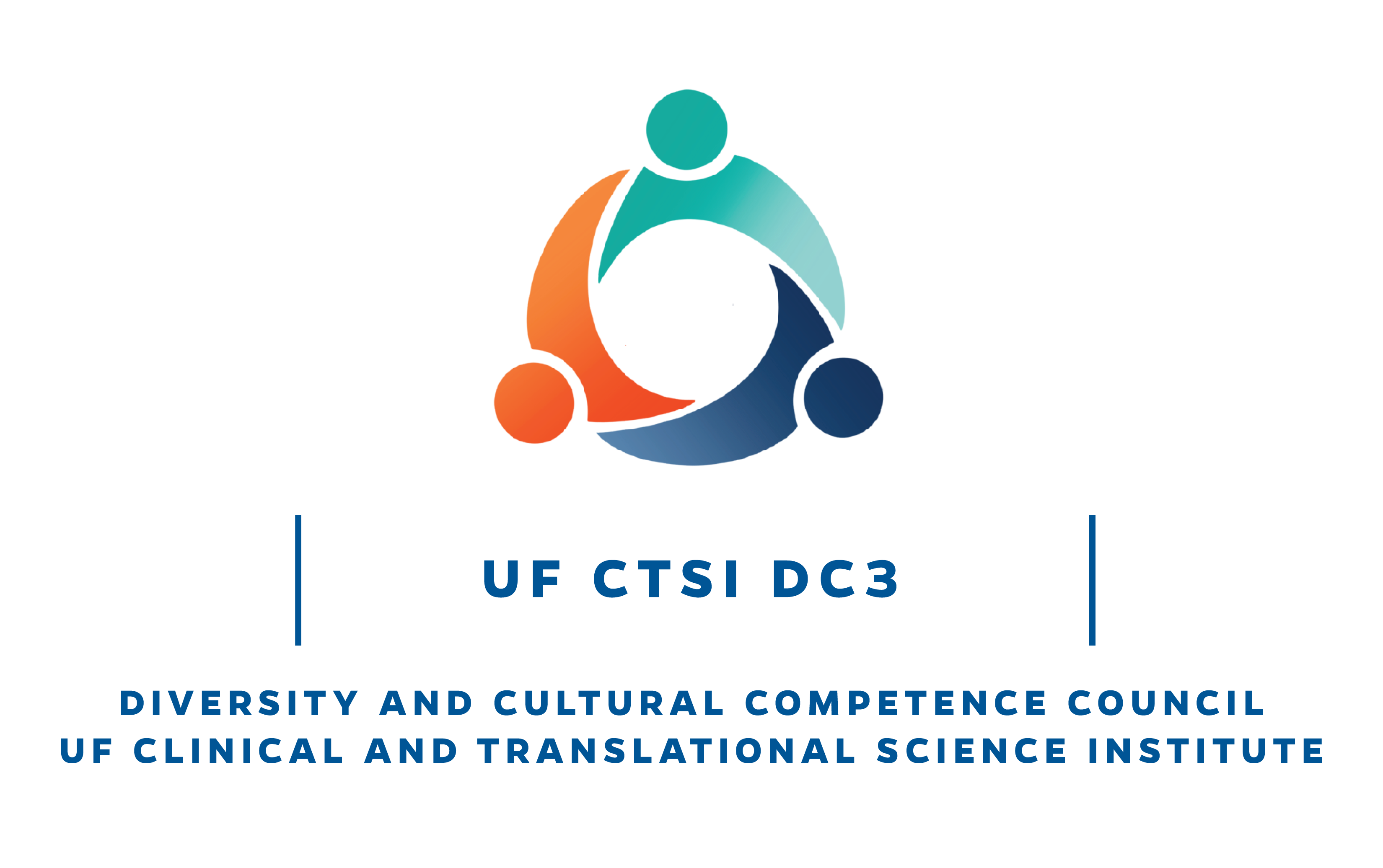 A logo for the University of Florida Clinical and Translational Science Institute Diversity and Cultural Competence Council