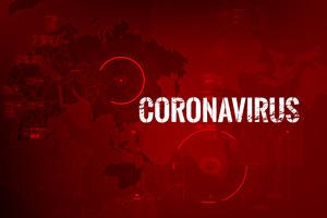 Red Coronavirus Map Graphic