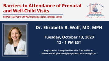 Text banner with event title, date, time, and headshot of Dr. Elizabeth Wolf