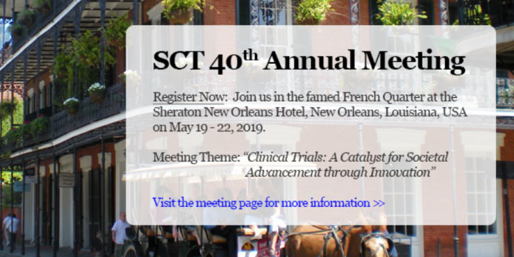 Society for Clinical Trials 40th Annual Meeting