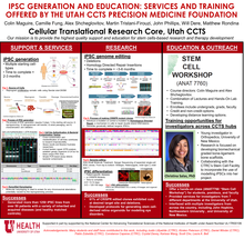 iPSC Generation and Education: Services and Training Offered by the Utah CCTS Precision Medicine Foundation