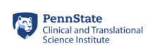 The Penn State Clinical and Translational Science Institute logo with signature Penn State shield