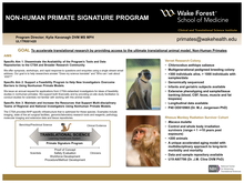 Wake Forest CTSI Nonhuman Primate Signature Program