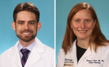 Eric C. Landsness, MD, PhD and Shannon C. Agner, MD, PhD (left to right)