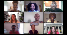 VRIP interns attend their first virtual seminar meeting with Laura Contreras-Ruiz of Dana-Farber Cancer Institute and Jessica St. Louis of Harvard Catalyst's Diversity Inclusion program.
